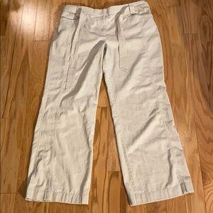 Loft straight leg khakis with belt size 14